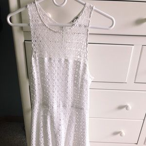 Urban outfitters white eyelet dress